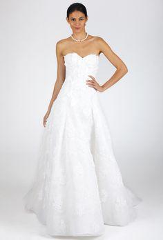 Brides.com: Oscar de la Renta - Fall 2013. Gown by Oscar de la Renta  See more Oscar de la Renta wedding dresses in our gallery.
