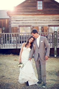 ultimate rustic wedding ~ the bride wore cowboy boots!   CHECK OUT MORE IDEAS AT WEDDINGPINS.NET   #weddings #weddinginspiration #inspirational
