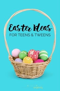 Looking for Easter ideas for kids?  Especially hard to buy for Teens and Tweens?  This list has clever ideas they'll LOVE! | Easter Basket Ideas