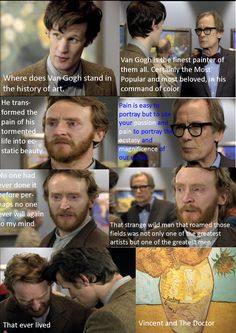 I always felt that the Doctor had to have broken some rules to bring Vincent into the future but who cares.