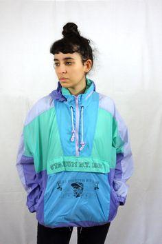 Vintage 80s Jacket Vintage Raincoat Anorak par ZootsuitVintage