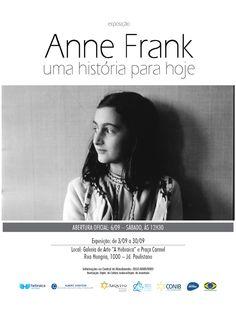 """A Hebraica de São Paulo sediará de 3 a 30 de setembro a exposição """"Anne Frank – Uma história para hoje"""". A abertura será no dia 6, às 12h30, na Galeria de Arte do clube."""