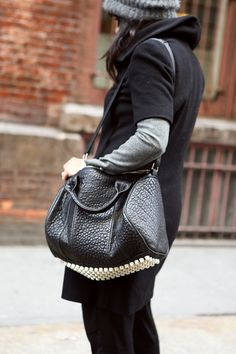 Bag Stalking: 20 Street Snaps To Inspire Your Winter Arm Candy #refinery29
