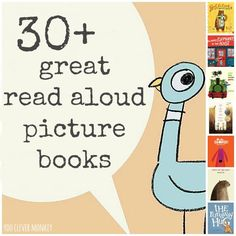 A collection of 30+ great read aloud picture books for early childhood. Perfect for the classroom or reading at home to your preschooler | you clever monkey