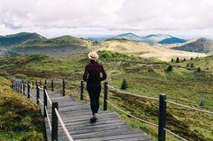 Auvergne. Die grüne Vulkanlandschaft im Herzen Frankreichs ist ein Eidorado für Wanderer und Mountainbiker. Der Puy de Dôme ist der höchste Vulkan der Puys.