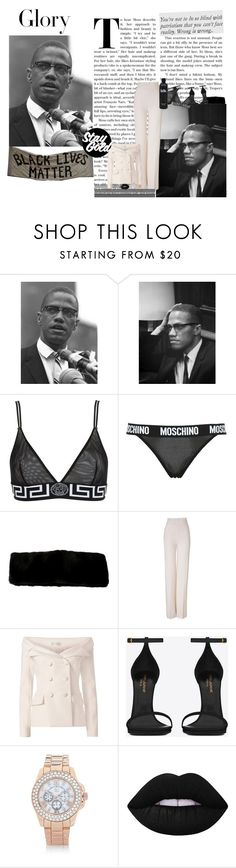 """""""one day, when the glory comes, it will be ours.."""" by tytanic ❤ liked on Polyvore featuring Tiffany & Co., Versace, Moschino, Emilia Wickstead, Faith Connexion, Yves Saint Laurent, River Island, Lime Crime, OKA and polyvorepoc"""
