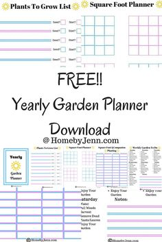 free garden journal printables garden planning layout and