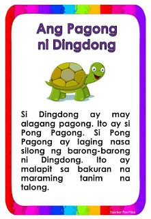 Reading Comprehension For Kids, Reading Passages, English Short Stories, Short Stories For Kids, Tagalog Words, Grade 1 Reading, Reading Charts, Visual Aids, Study Habits