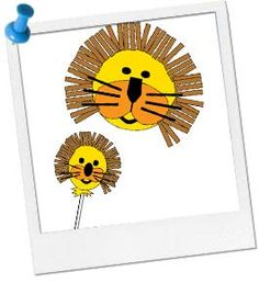 Jungle Party Lion Puppet Craft - Animal Party Crafts