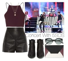 """Concert with 5 Seconds of Summer"" by lovatic92 ❤ liked on Polyvore featuring Balenciaga, Topshop, N.Y.L.A., BCBGMAXAZRIA, RetroSuperFuture and LowLuv"