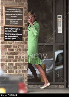 Diana leaves the Brompton Hospital after visiting her boyfriend Dr. Hasnat Khan.  1996
