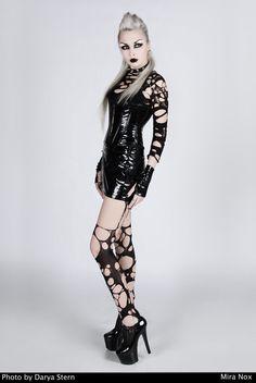 Mira Nox taken by Darya Stern in her #Goth girl glam attire
