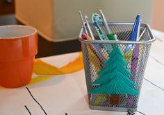 Jour 14: Un pot à crayon brodé par Aiguilles & Papilles #lenoeldesblogsnantais