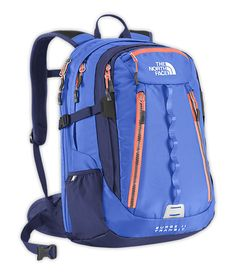 The North Face® Women's Surge II Transit Backpack in coastline blue/electro coral orange North Face Women, The North Face, Back To School Backpacks, Mobile Office, Nike Bags, Back 2 School, What A Girl Wants, The Next Big Thing, Things To Buy