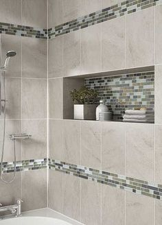 Find wall and floor tile options for your bath in a vast array styles, colors and finishes. Weather it's trending bath tile or shower tile. We've got what you need on 40 Beautiful Bathroom Shower Tile Design Ideas and Makeover. Master Bathroom Shower, Shower Tub, Modern Bathroom, Small Bathrooms, Neutral Bathroom, Luxury Bathrooms, Minimalist Bathroom, Simple Bathroom, Steam Bathroom