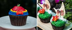 The first-ever World Princess Week, part of the Ultimate Princess Celebration, starts August 23 and celebrates the courage and kindness displayed by Disney Princesses and Queens. Orange Buttercream, Strawberry Buttercream, Strawberry Filling, Strawberry Cupcakes, Vanilla Cupcakes, Chocolate Chiffon Cake, Chocolate Fudge, Disney Food, Disney Parks