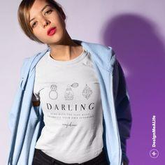 DMAL x HYGGE - Confidence Quote - Beauty - Scandinavian Design - Darling - Be Yourself - Create Your Own Sunshine - Women's short sleeve t-s Confidence Quotes, Beauty Quotes, Hygge, Scandinavian Design, Neck T Shirt, Cap Sleeves, Scoop Neck, Graphic Sweatshirt, Sweatshirts