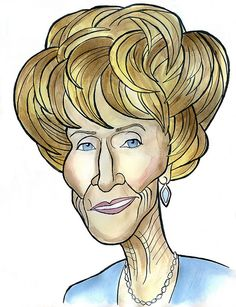 "Jeanne Cooper as Katherine Chancellor in ""The young and the Restless"" (by Caricature80, via Flickr)"