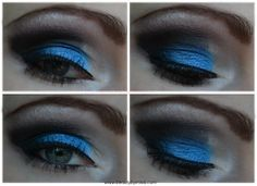 blue black white smoky eye makeup via @beautybymissl  #smokyeye #smokyeyefriday #eyemakeup #eyemakeuplook #makeup