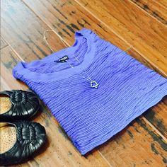 Blue purple mesh knit dolman never worn Cute mesh top that was never worn NWOT Express Tops
