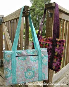 Laptop Bag Tutorialhttp://www.bearcreekquiltingcompany.com/blog/2014/07/13/laptop-bag-tutorial/