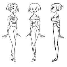 Character turnaround done as a demo for class by Victoria Ying