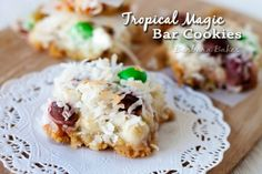 Tropical Magic Bar Cookies From Barbara Bakes
