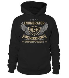 Enumerator Superpower Job Title T-Shirt #Enumerator