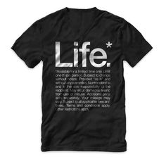 V-Neck T-Shirt by WORDS BRAND™