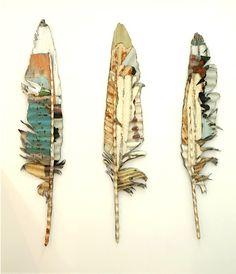 Jeff Thomson corrugated iron feathers
