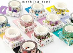 Quality Cute Kawaii Plants Flowers Japanese Masking Washi Tape Decorative Adhesive Tape Decora Diy Scrapbooking Sticker Label Stationery with free worldwide shipping on AliExpress Mobile Scrapbook Stickers, Diy Scrapbook, Scrapbooking, Planner Stickers, Album Diy, Washi Tape Crafts, Washi Tapes, Paper Crafts, Decoration Stickers