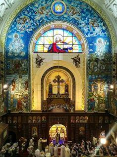 Saint Goerge church,Ain Shams ,Cairo ,Egypt Church Interior, Cairo Egypt, Religious Art, Middle East, Barcelona Cathedral, Egyptian, Catholic, Taj Mahal, Temples