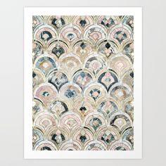 Buy Art Deco Marble Tiles in Soft Pastels Art Print by micklyn. Worldwide shipping available at Society6.com. Just one of millions of high quality products available.