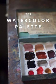 #DIY #watercolors #paint #kids #art #make #colors