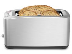 The Die-Cast Smart Toaster is a 4-slice motorized long-slot toaster with 'Lift & Look'™ and 'A Bit More'™ ... with self-centering slots that are extra wide, extra deep, and extra long.