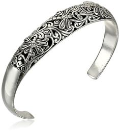 Sterling Silver Dragonfly Filigree Cuff Bracelet * You can find out more details at the link of the image.