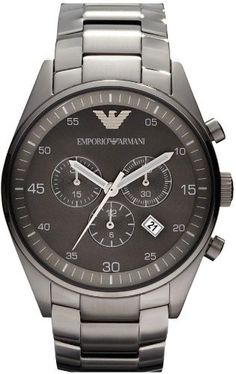 Emporio Armani Sportivo Chronograph Mens Watch AR5964 Armani. $319.99. Steel Bracelet Strap. Chronograph Display. Save 28%!