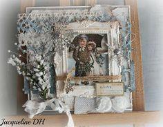 wat een mooie vintage kerstkaart is dit