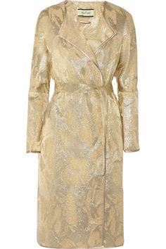 By Malene Birger|Antea metallic jacquard coat|NET-A-PORTER.COM