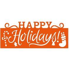 Tonic Studios - Christmas Header Fold - Happy Holidays Die