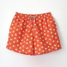 Orange crabs trunk / Bañador de hombre Ocoly naranja de cangrejos