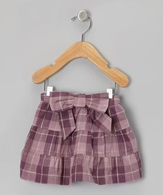 Purple Plaid Fiesta Organic Skirt - Toddler by violet + moss on #zulily #baby #clothes #infant #toddler #girl #girls #skirt #plaid #tartan #violet #plum #fall #backtoschool #back #school #bow #uniform #outfit #picture #portrait #family #holiday #card #cards