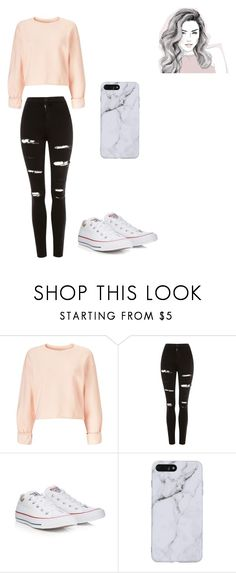 """LOOKIN spicy "" by dangerousmistake ❤ liked on Polyvore featuring Miss Selfridge, Topshop and Converse"