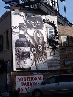 Walk By This Kraken Rum Billboard At Your Own Risk: Cool Advertisement for Kraken Black Spiced Rum