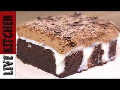 Πάστα Ταψιού Σοκολάτα Μπανάνα!! - Chocolate Banana Cake With Chocolate mousse - YouTube Kitchen Living, Tiramisu, Sweets, Ethnic Recipes, Youtube, Desserts, Food, Channel, Live