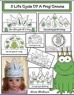 Frog activities: Life Cycle Of A Frog craft: 5 Life cycle of a frog crowns. My kiddos LOVE making & wearing crowns. Frog Activities, Frog Life, Frog Crafts, Butterfly Life Cycle, Becoming A Teacher, Life Cycles, Fun Prints, Crafts For Kids, Crown