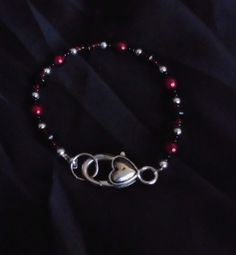 NWOT Handcrafted Silver Color Plated Heart Clasp Bracelet #Handmade #Bangle
