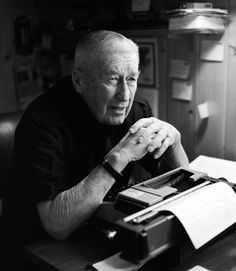 """Hemingway hated me. I sold 200 million books, and he didn't. Of course most of mine sold for 25 cents, but still… you look at all this stuff with a grain of salt."" Mickey Spillane,  an American author of crime novels, at his desk."
