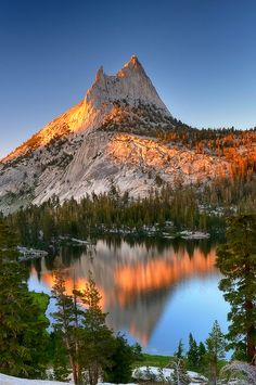 Cathedral Peak in Yosemite National Park.