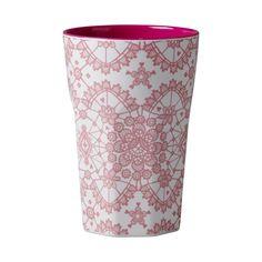 Rice dk Tall Melamine Latte Cups/Lids